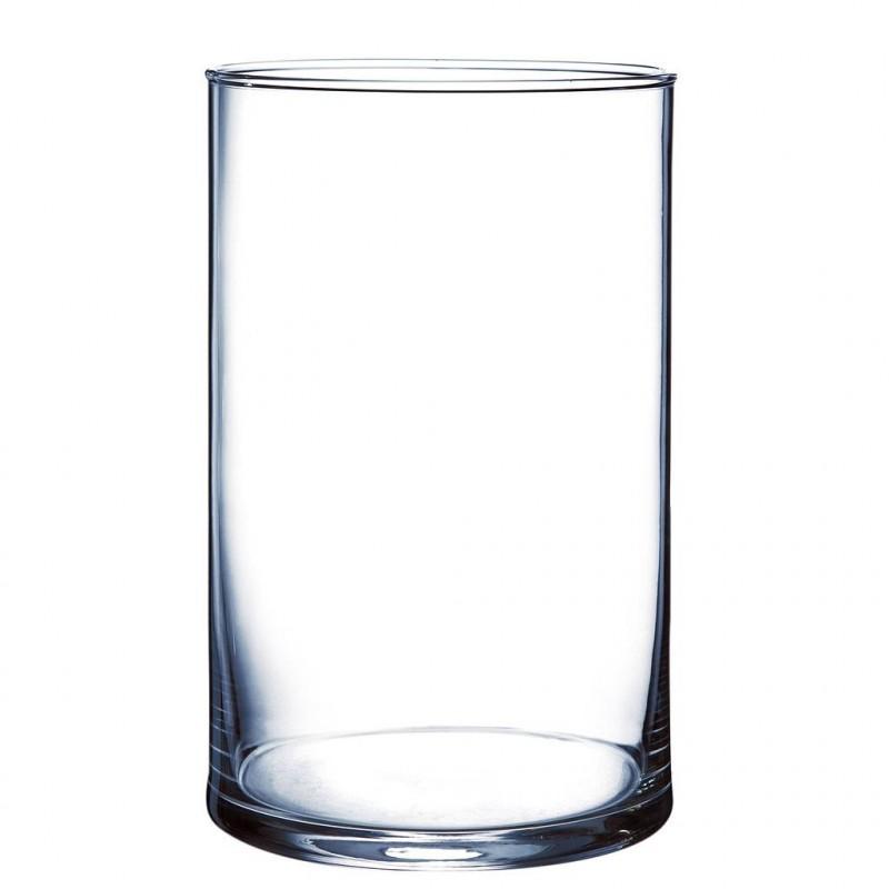 Vase en verre cylindrique ø12cm H20 Transparent