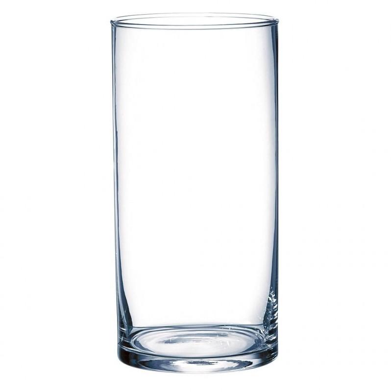 Vase cylindrique ø12cm H25cm Transparent