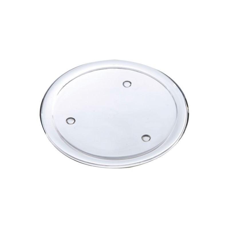 Disque verre H1,8cm ø19,5cm Transparent