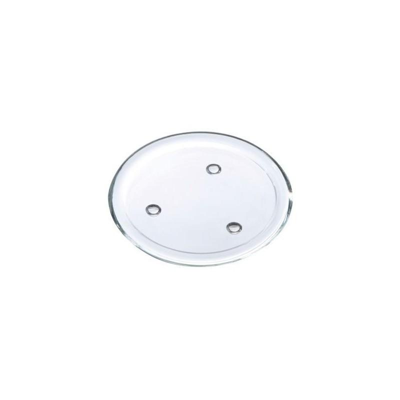 Disque verre H1,7cm ø14cm Transparent