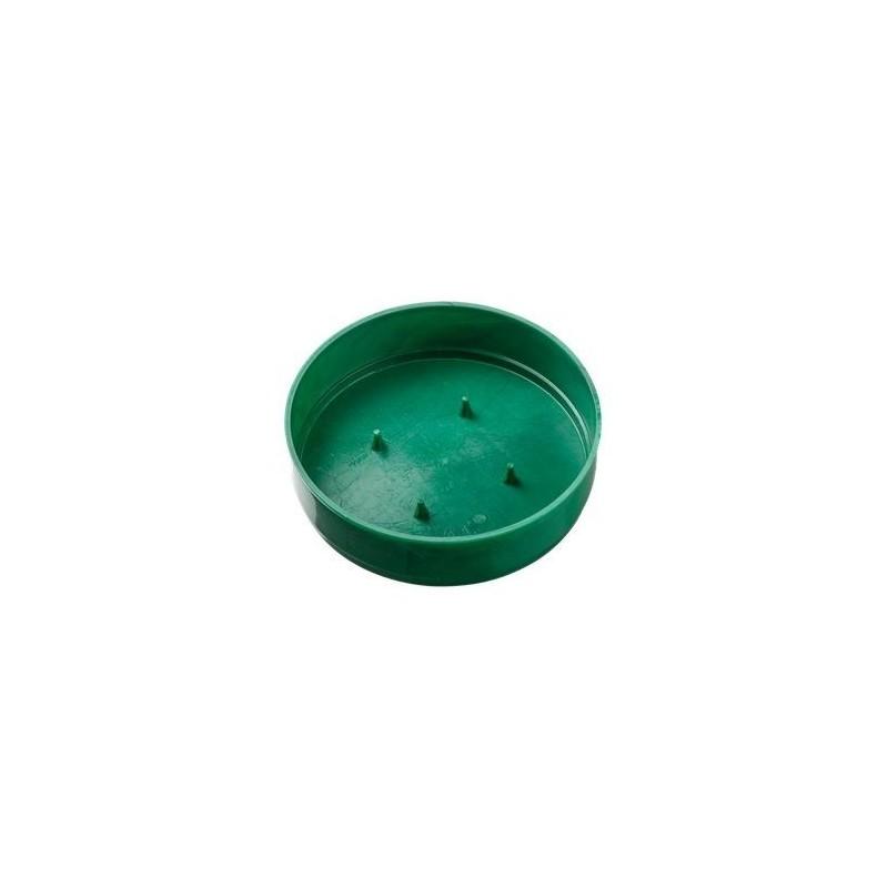 BAC PLASTIQUE ROND OLYMPIA VERT x10pièces Diamètre 22cmx H4,5cm