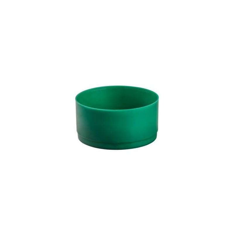 BAC PLASTIQUE ROND VERT x3pièces Diamètre 26cm x H11,5cm