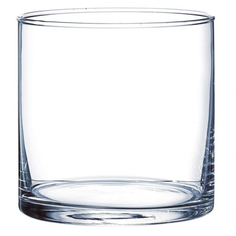Vase cylindrique verre H10 ø10cm Transparent