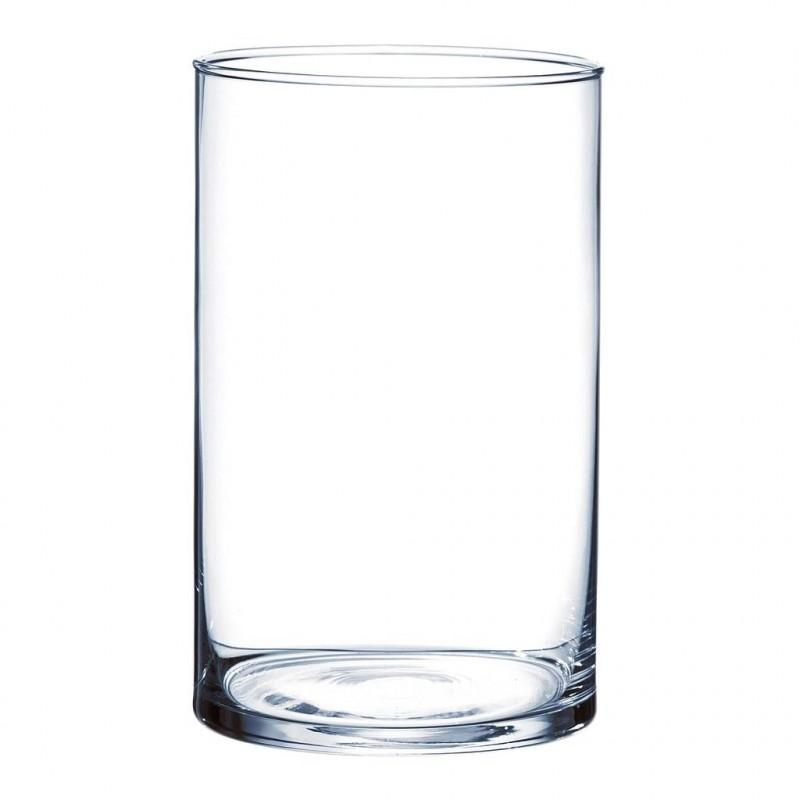 Vase cylindrique en verre ø10cm H20cm