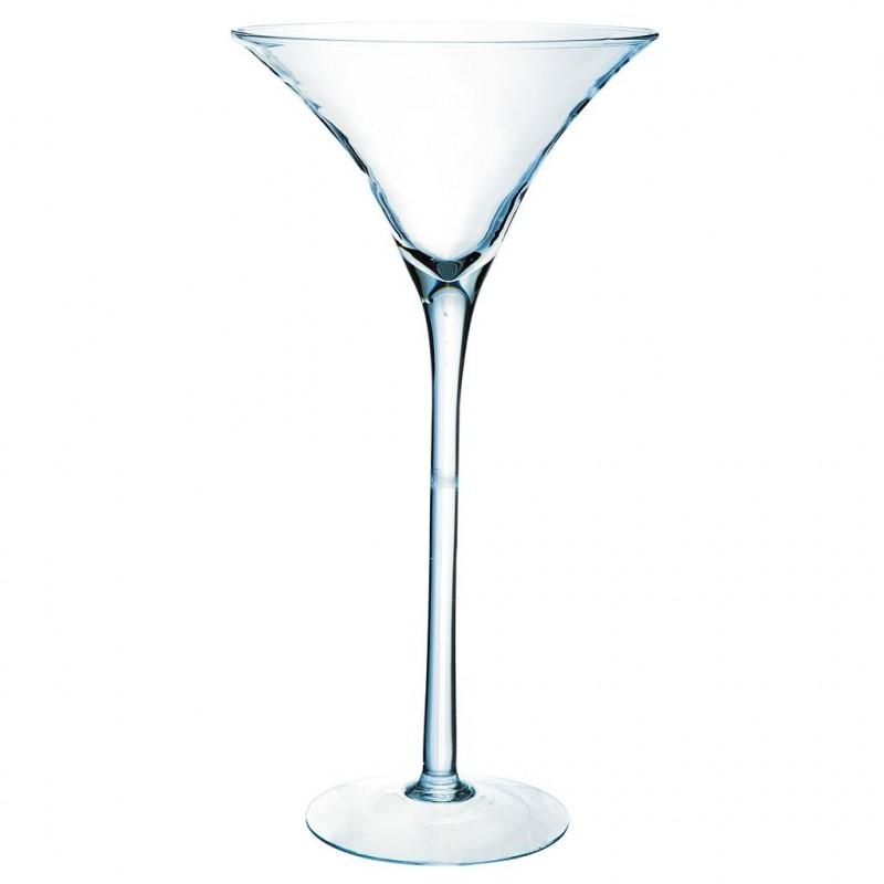 Vase Martini Verrerie ø25cm H50cm Transparent