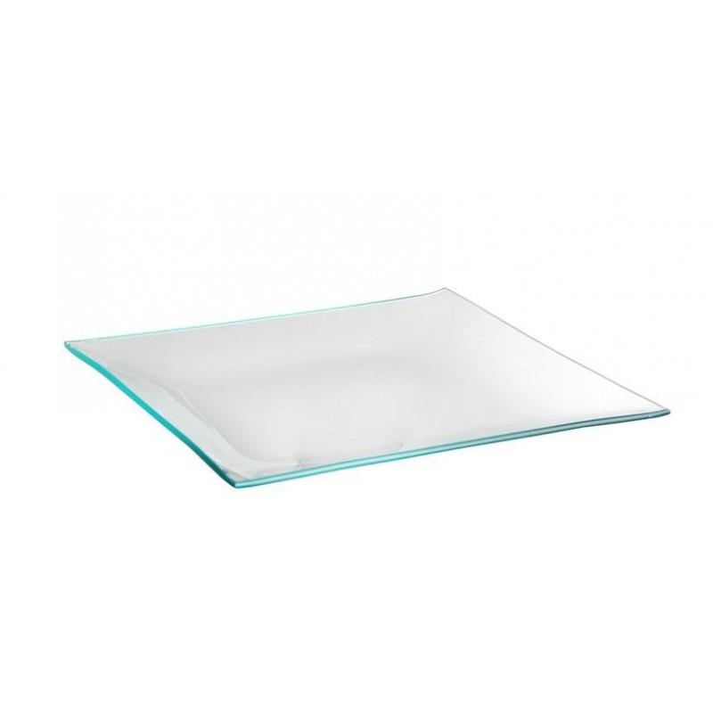 Assiette carrée 20x20cm Transparent