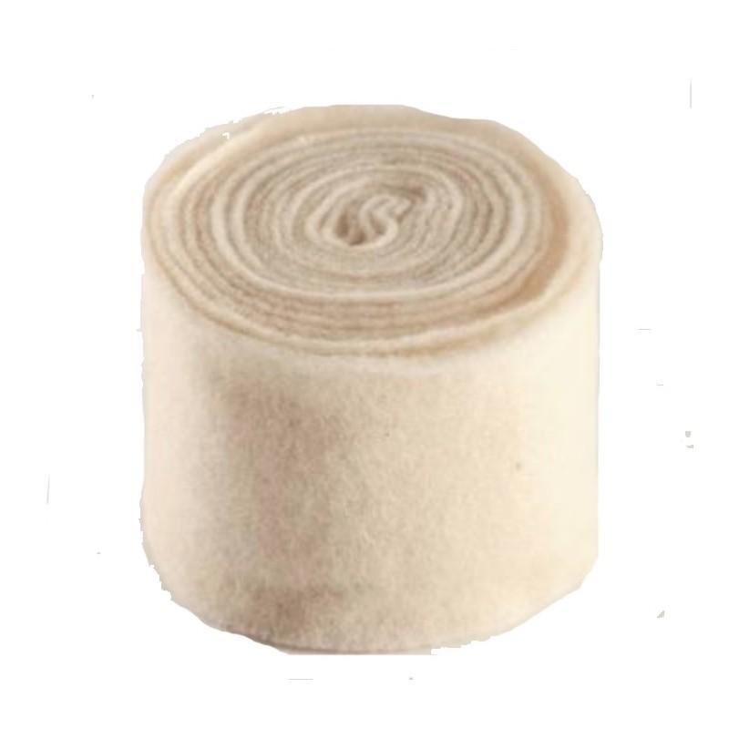 Rouleau laine feutrine en 15 cm coloris blanc