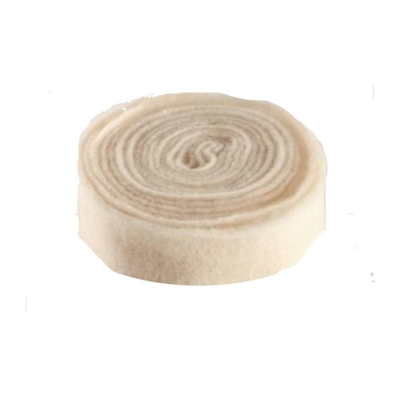 Rouleau laine feutrine en 7.5 cm coloris blanc