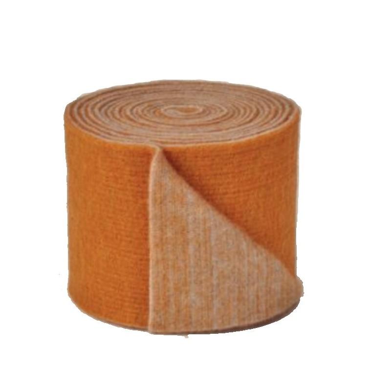Rouleau laine - feutrine bicolore en 15 cm coloris orange foncé et clair