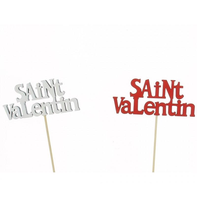 Pic Saint-Valentin 12x5 cm H50 cm sachet de 12 pièces