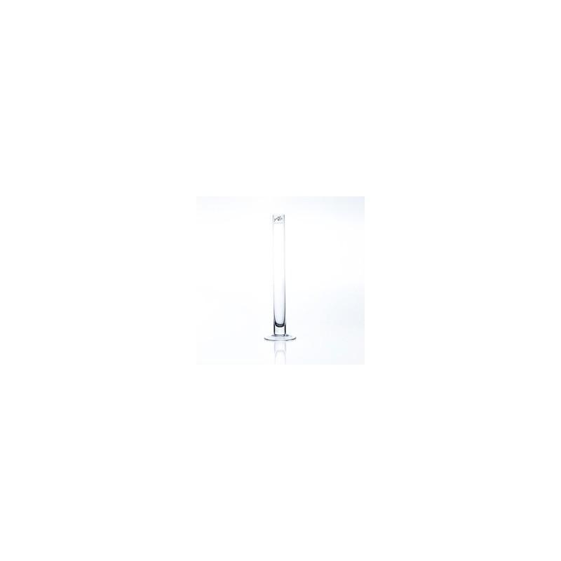 Soliflor sur pied en verre - Solifleur H40cm ø3cm Transparent