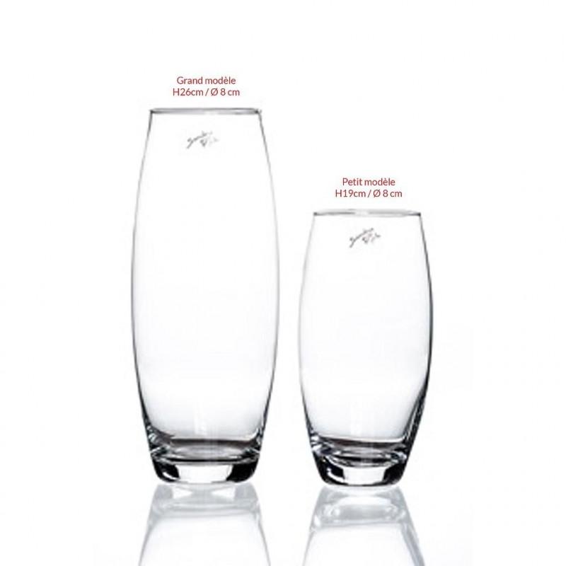 Vase Amaryllis grand modèle ø8cm H26cm Transparent
