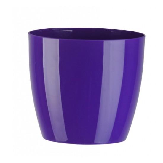 """Cache pot en plastique """"Aga"""" couleur violet Ø12cm H11cm"""