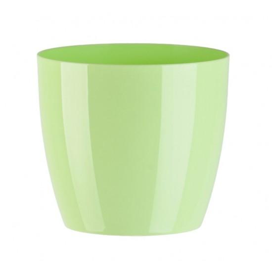 """Cache pot en plastique """"Aga"""" couleur vert pastel Ø23cm H20,5cm"""