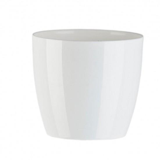 """Cache pot en plastique """"Aga"""" couleur blanc Ø28cm H25cm"""