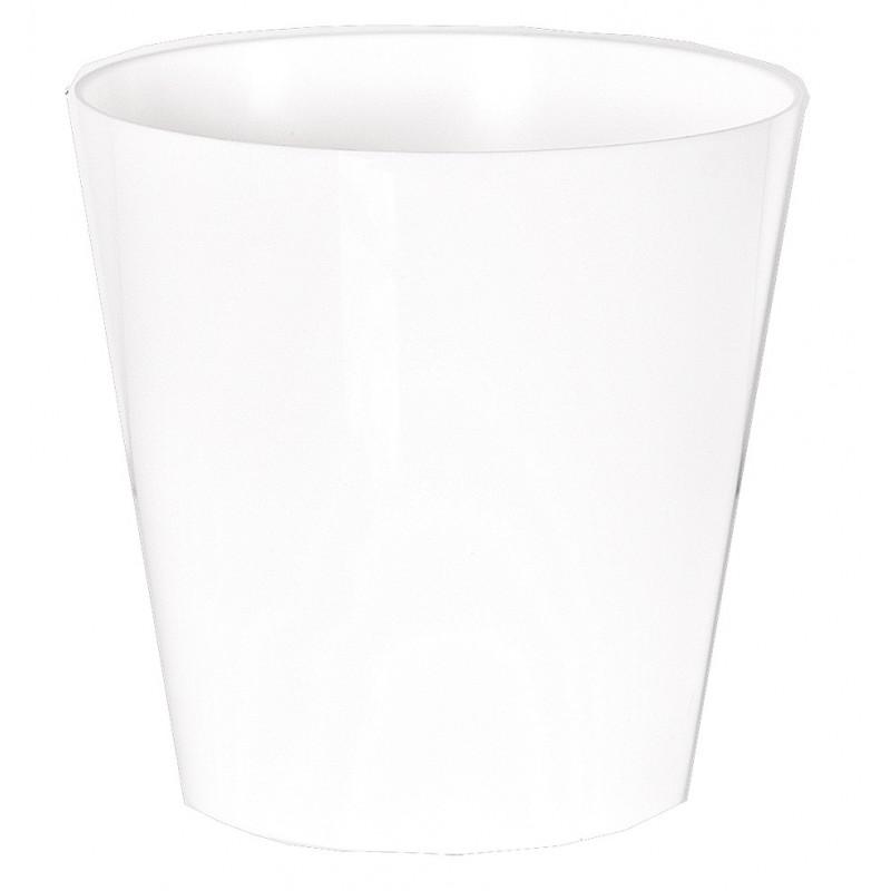 """Cache pot en plastique """"Simple"""" couleur blanc Ø8,5cm H9cm"""