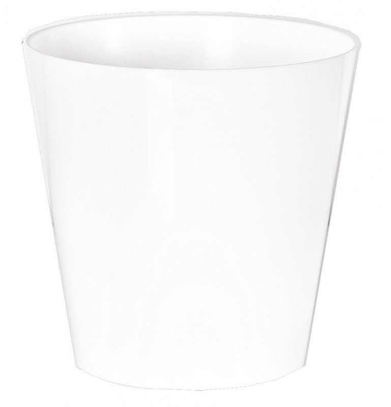 "Cache pot en plastique ""Simple"" couleur blanc Ø21cm H21cm"