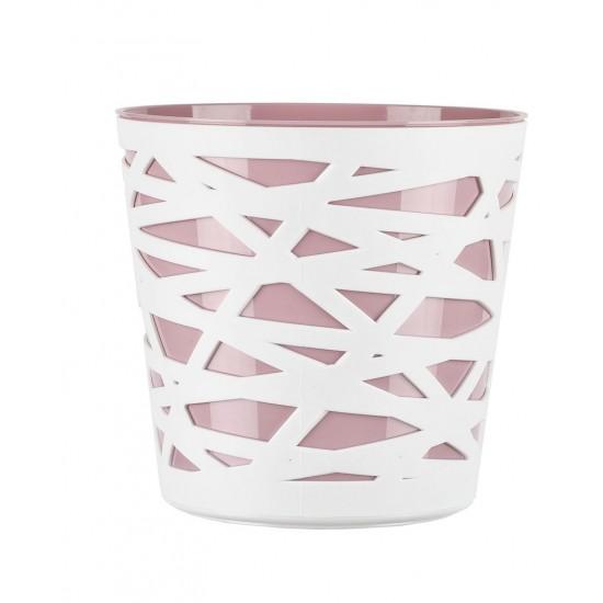 Cache pot en plastique Beti couleur rose poudré Ø15cm H15cm