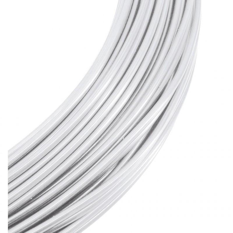 Fil alu déco blanc 2mm x 60m