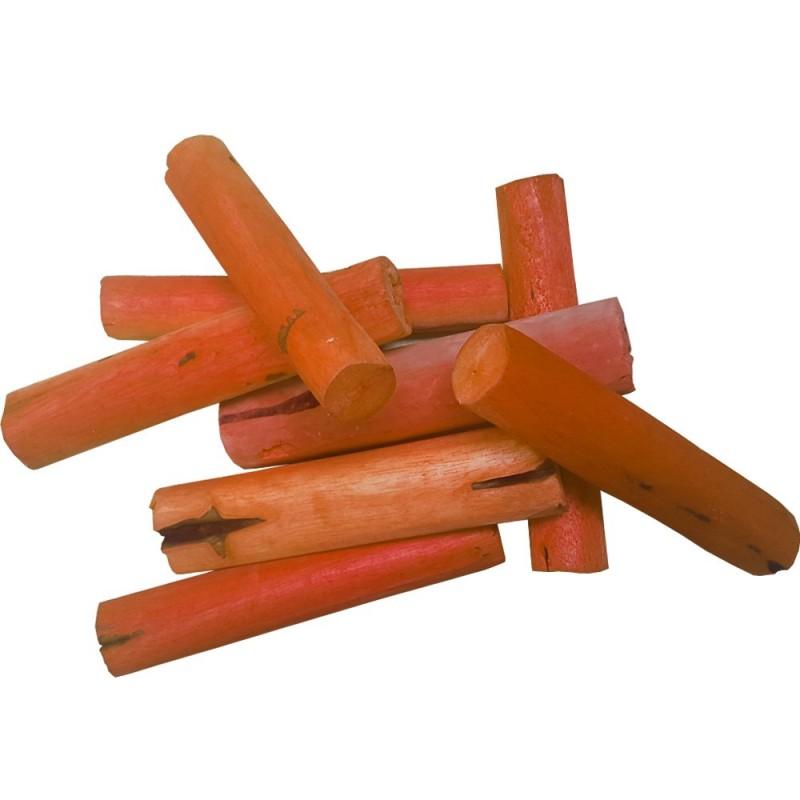 Bois séché orange hauteur 15cm x8pcs
