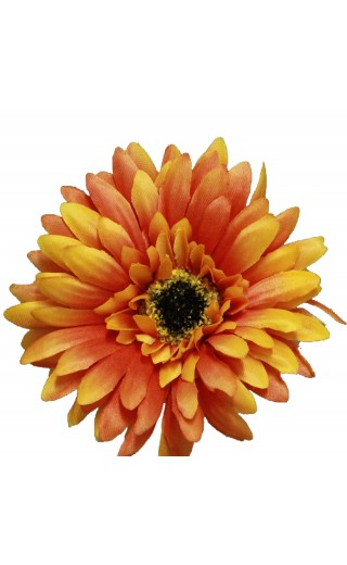 Fleur artificielle gerbera couleur orange botte de 6 tiges