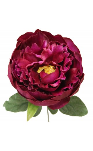 Fleur de montage artificielle pivoine couleur fuchsia botte de 6 tiges