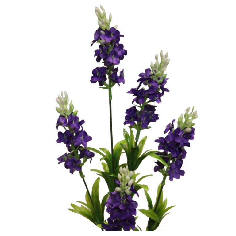 Fleur artificielle lavande couleur prune x5 fleurons