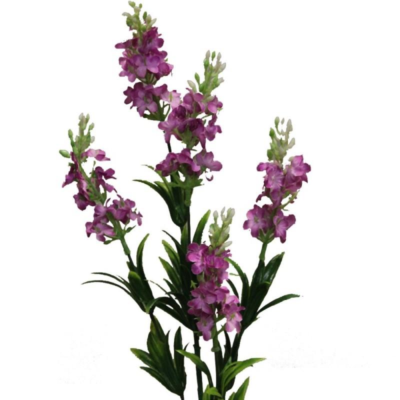 Fleur artificielle lavande couleur fuchsia x5 fleurons