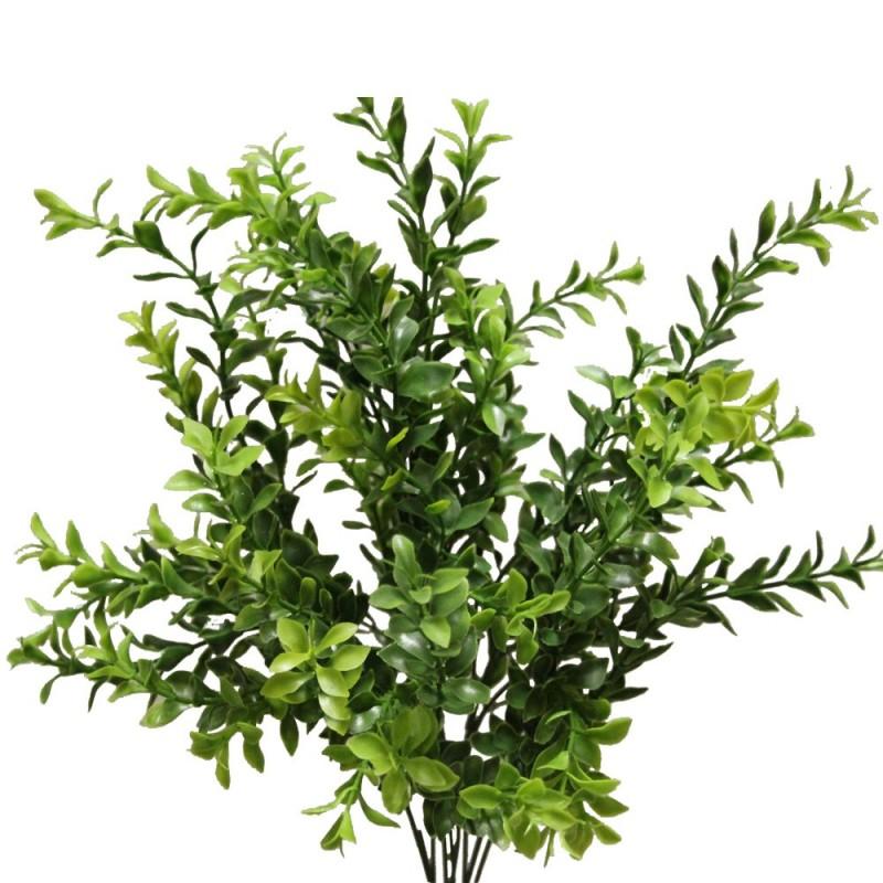 Piquet de ruscus artificiel couleur vert H45cm