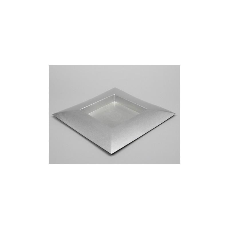 PLATEAU PLASTIQUE CARRE_ARGENT_40x40x4,5cm_223482