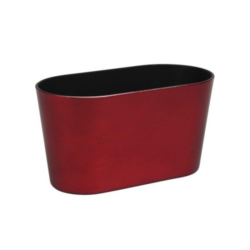 Jardinière en plastique couleur rouge 20,5x10x11cm