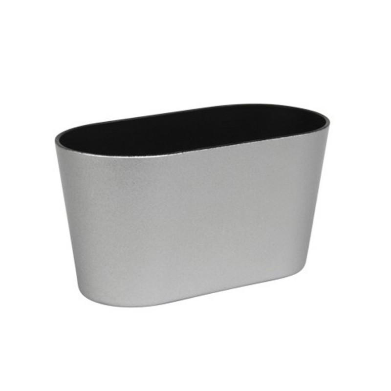 Jardinière en plastique couleur argent 20,5x10x11cm