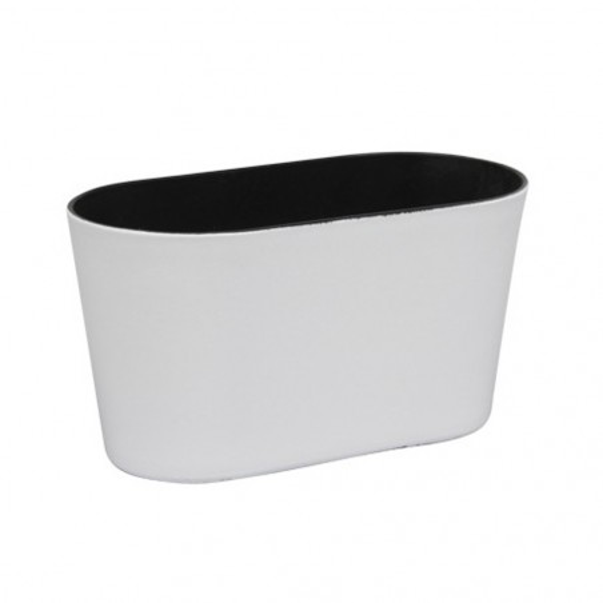 Jardinière en plastique couleur blanc brillant 20,5x10x11cm