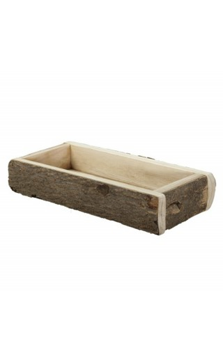Plateau en bois rectangle 35x16,5x6cm