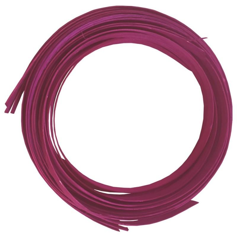 Rotin plat / Holz minido flat largeur 1,8cm couleur rose