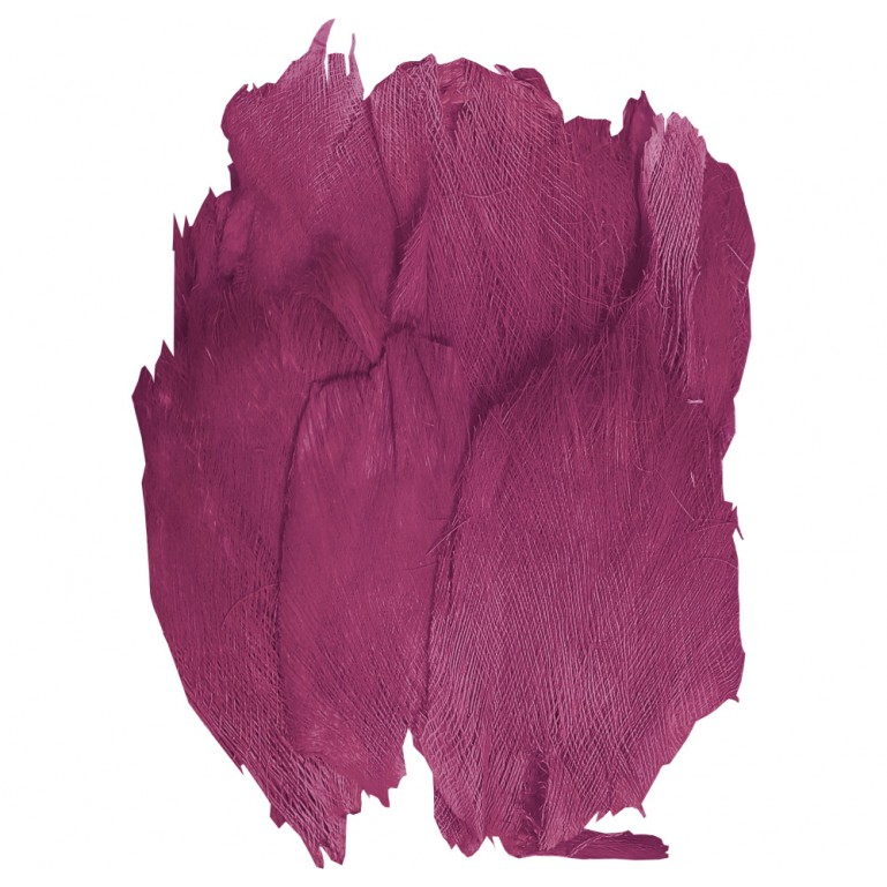 Sachet de toile de coco / palmfaser de 400g couleur fuchsia