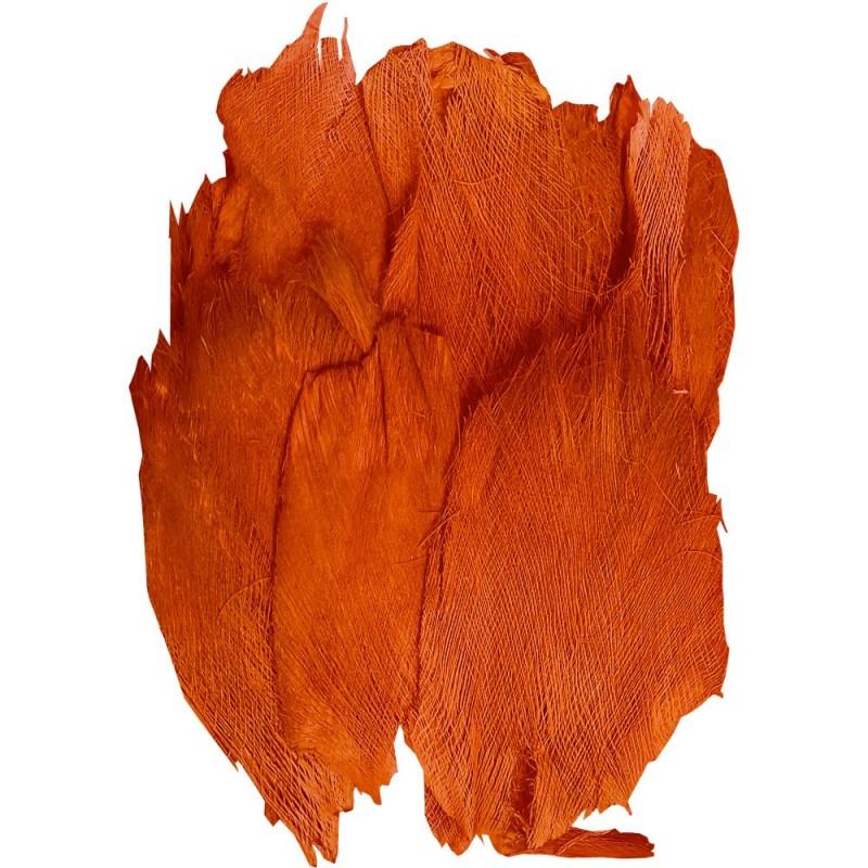 Sachet de toile de coco / palmfaser couleur orange 400g