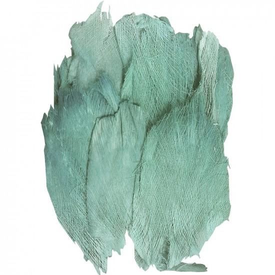 Sachet de toile de coco / palmfaser couleur turquoise 400g