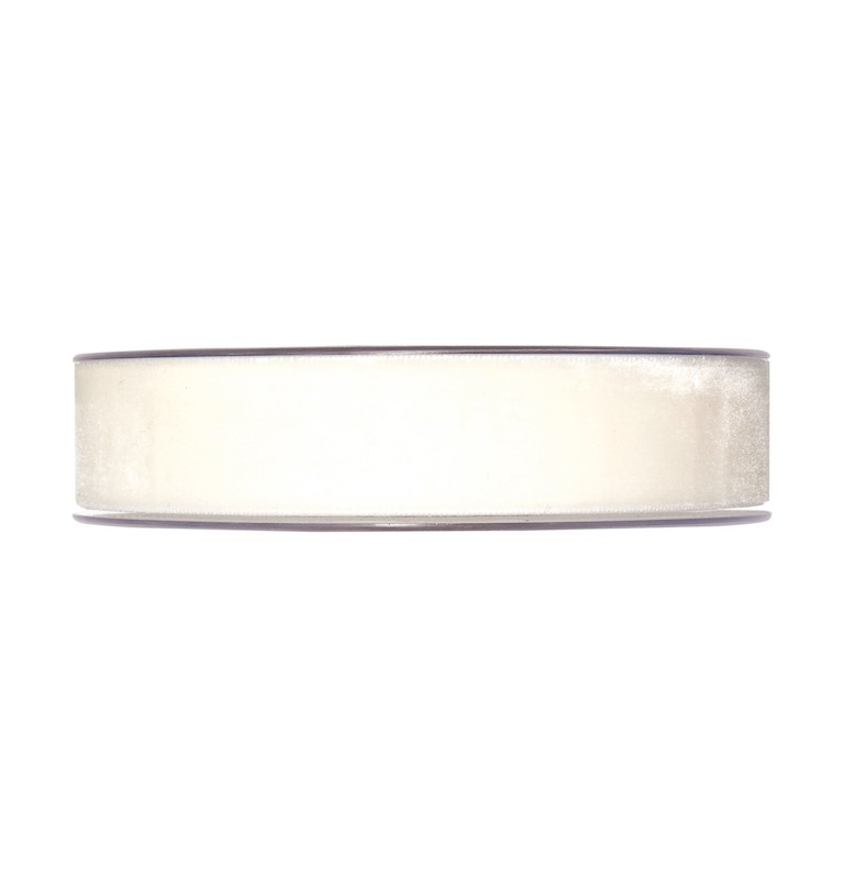RUBAN VELOURS BLANC_25mm x 9,5m _7980-025-70-9,5