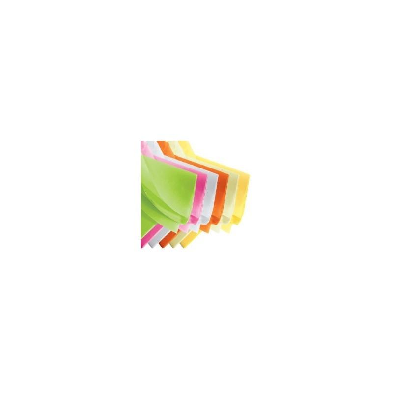 Rame papier de soie multicouleur 75x50 cm en 17gr/m2 par 240 feuilles
