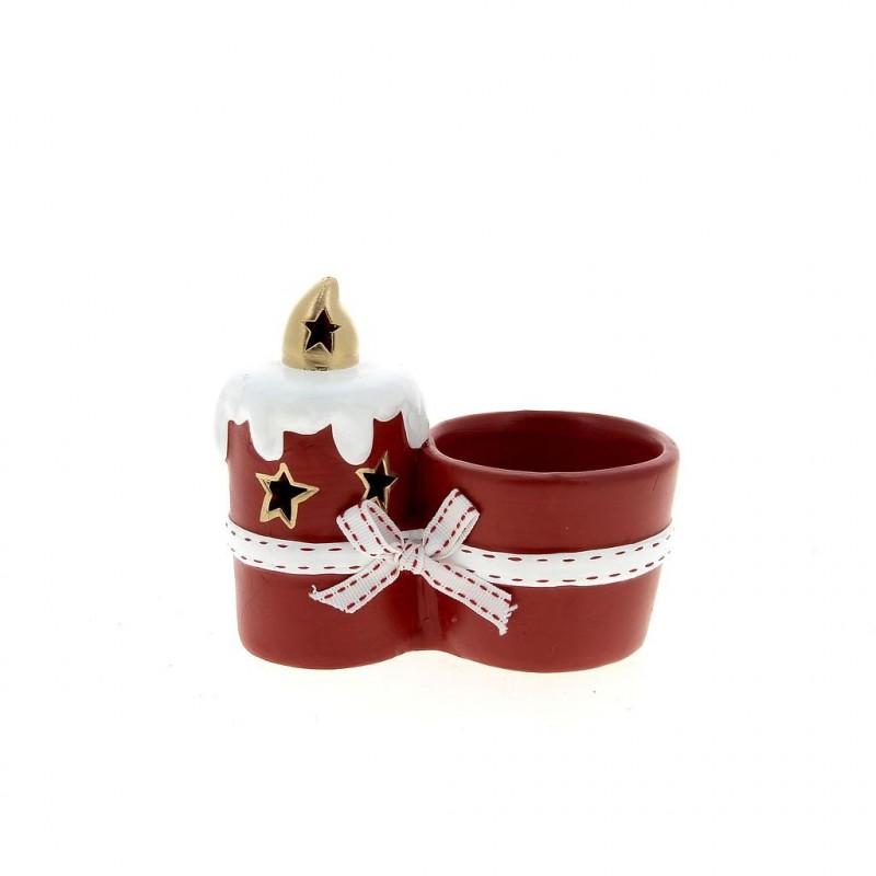 Pot de Noël  H11,5 cm en ø12 cm