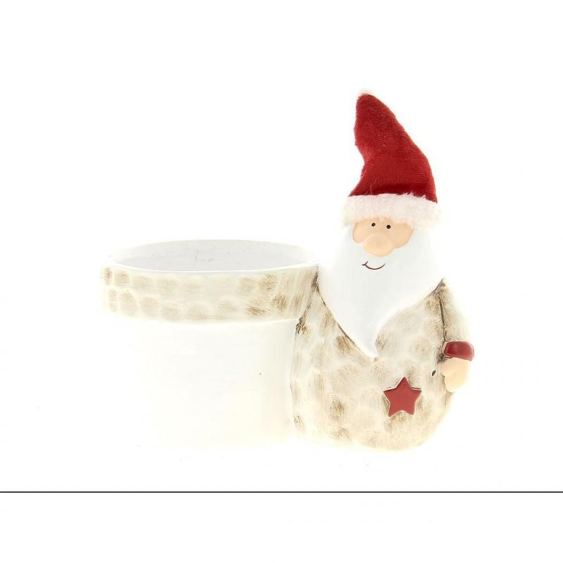 Cache pot père Noël H21cm ø18 cm