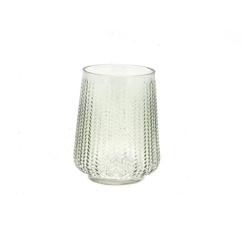 Vase verrerie ø12 H15cm Vert