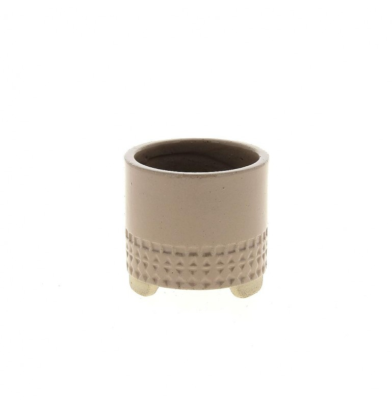 Cache pot mini de couleur rose Ø7,6cm H7,1cm, lot de 12