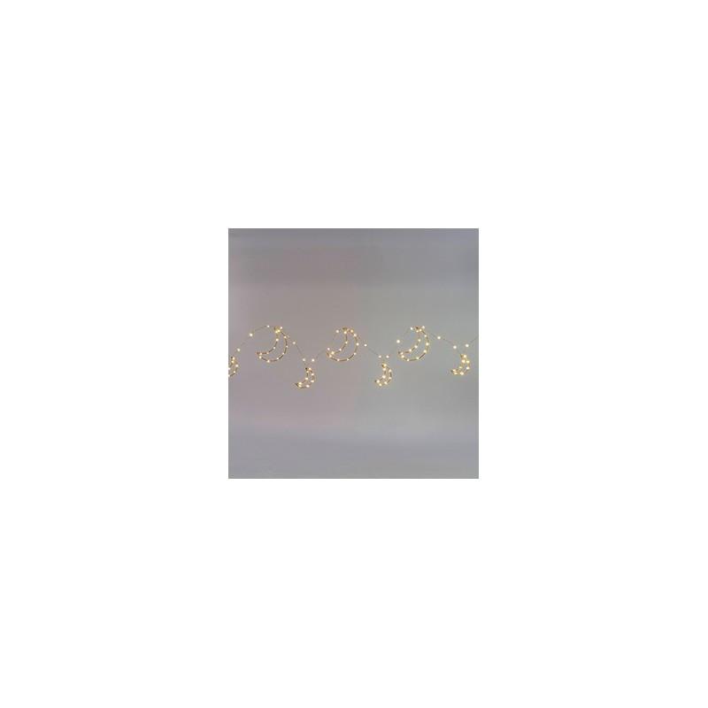 LUNE GUIRLANDE LUMINEUSE 120 LEDS 270cm