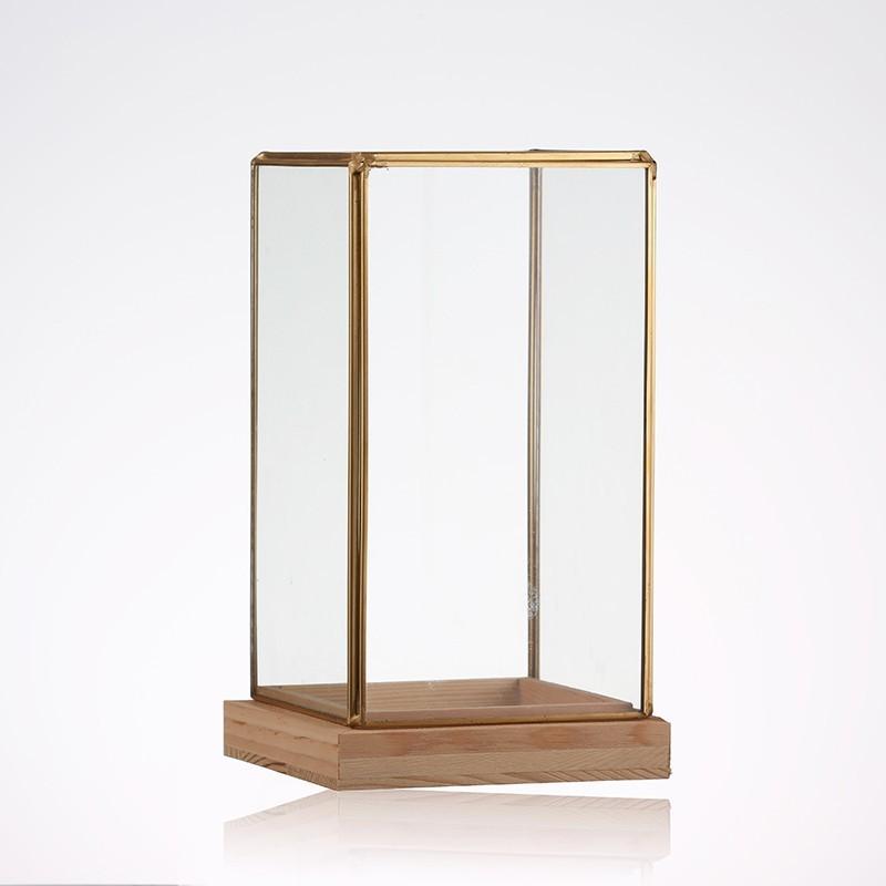 Cloche rectangulaire en verre en forme cubique 12x12x25cm