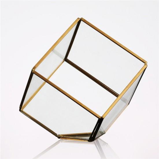 Terrarium cube renversé en verre 12x12x12cm