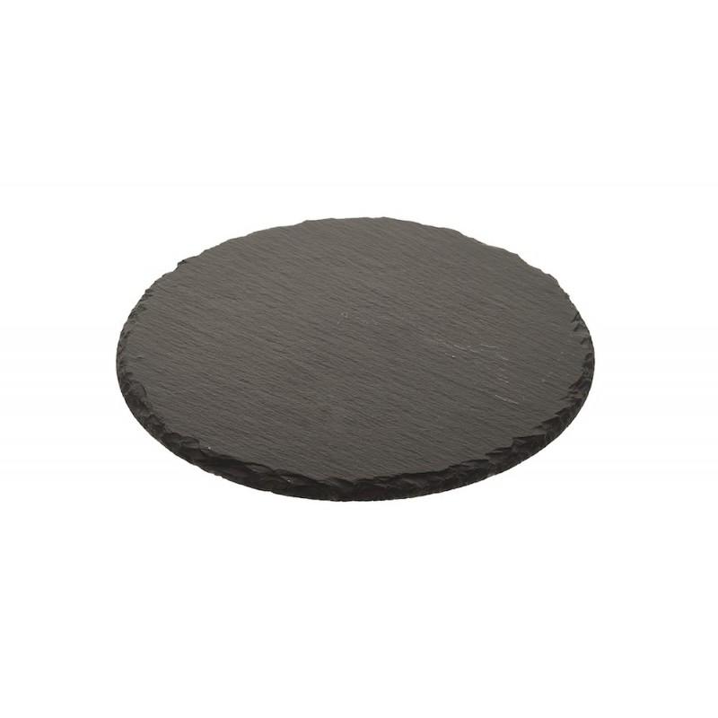 Plateau pierre grise façon ardoise ronde ø30 cm