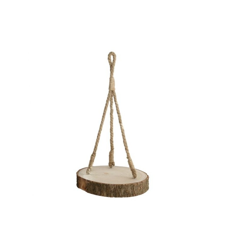 SUSPENSION PLATEAU BOIS DIAM 30cm