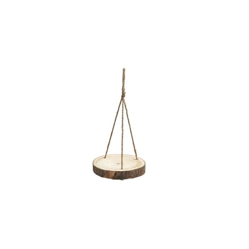 SUSPENSION PLATEAU BOIS DIAM 40cm